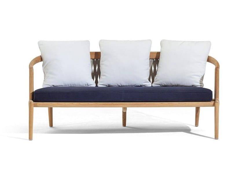 3 seater teak garden sofa THE SECRET GARDEN   Garden sofa by Poltrona Frau