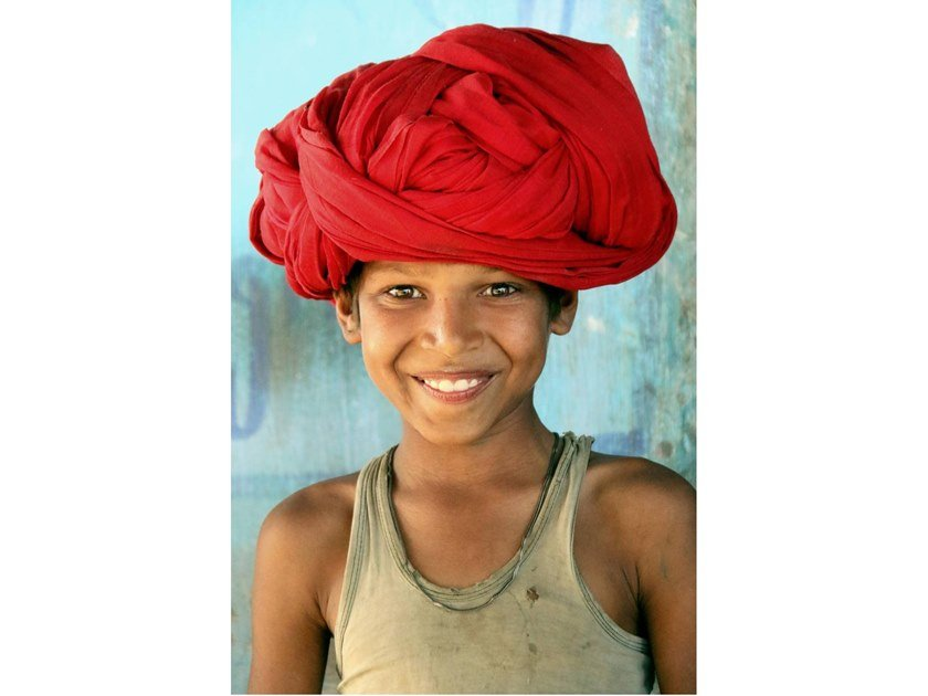 Stampa fotografica IL SORRISO DEL RAJASTHAN by Artphotolimited