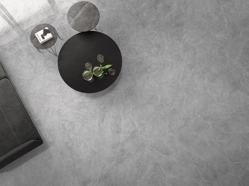 Porcelain stoneware wall/floor tiles with marble effect THEMAR GRIGIO SAVOIA by CERAMICA SANT'AGOSTINO