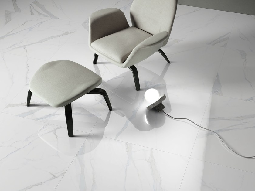 Porcelain stoneware wall/floor tiles with marble effect THEMAR STATUARIO VENATO by CERAMICA SANT'AGOSTINO