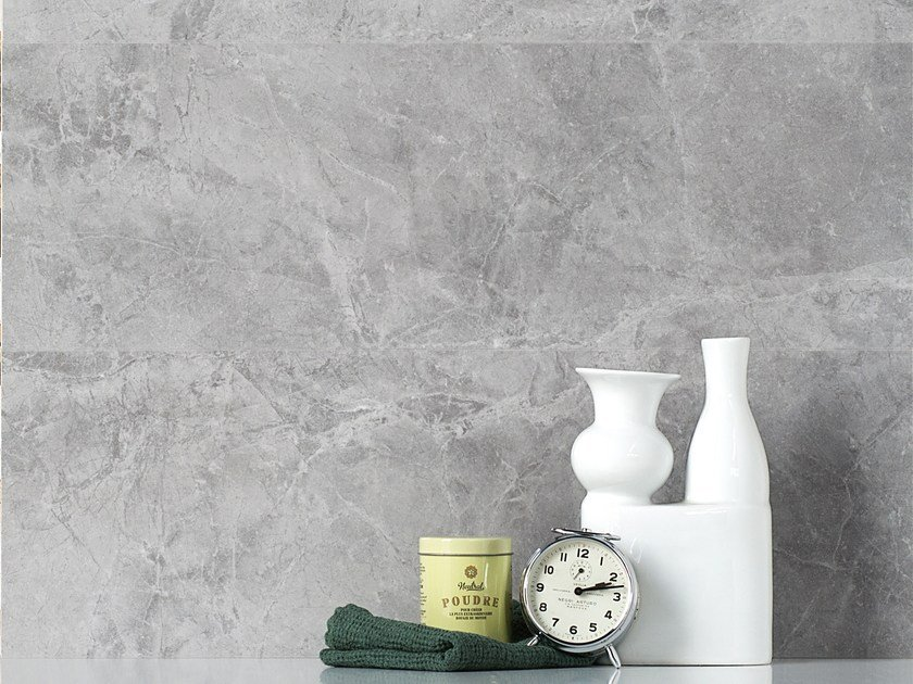 White-paste wall tiles with marble effect THEMAR WALL GRIGIO SAVOIA by CERAMICA SANT'AGOSTINO