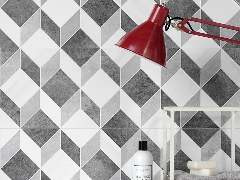 White-paste wall tiles with marble effect THEMAR WALL TRIAL by CERAMICA SANT'AGOSTINO