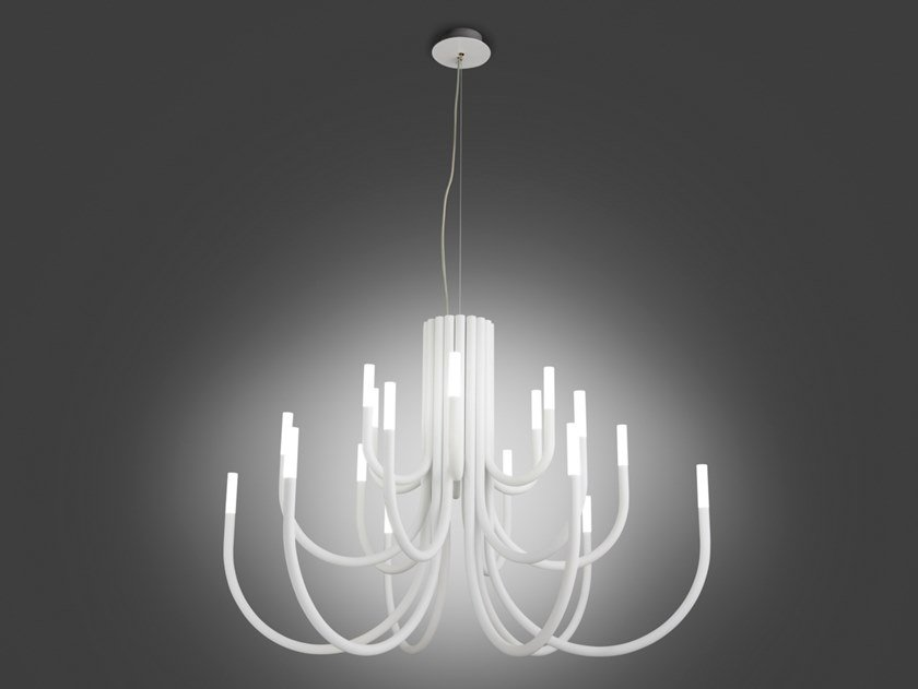 LED iron chandelier THEPALM 5190/18 by Alma light
