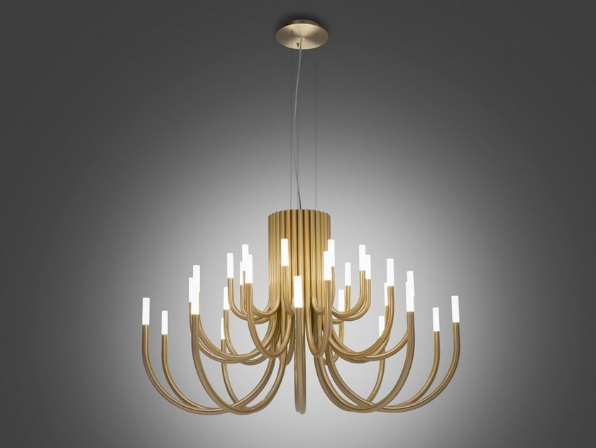 LED iron chandelier THEPALM 5190/30 by Alma light