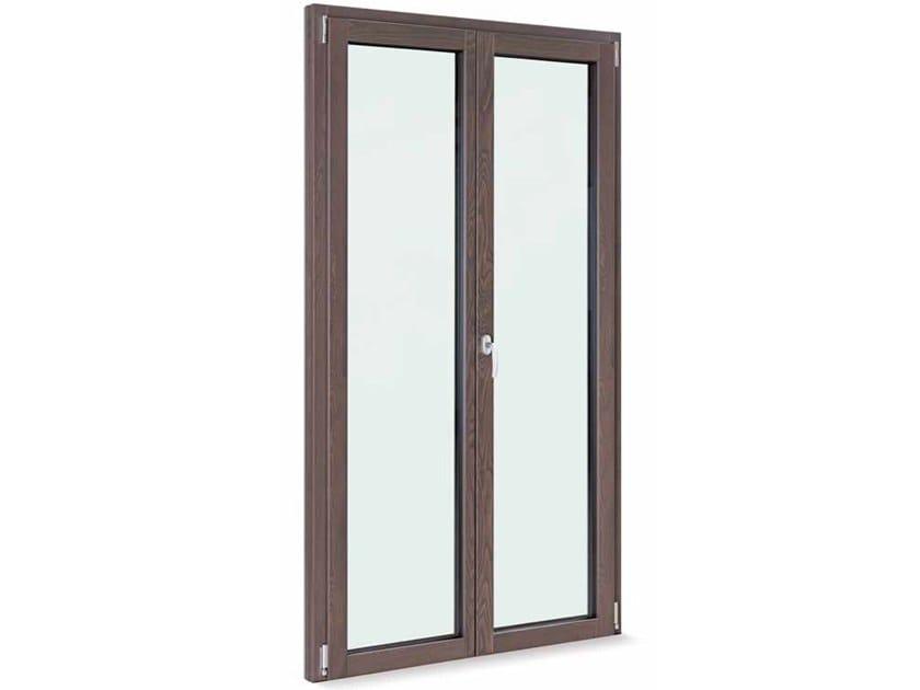 Aluminium and wood patio door THERMIC 2.0 by FOSSATI SERRAMENTI