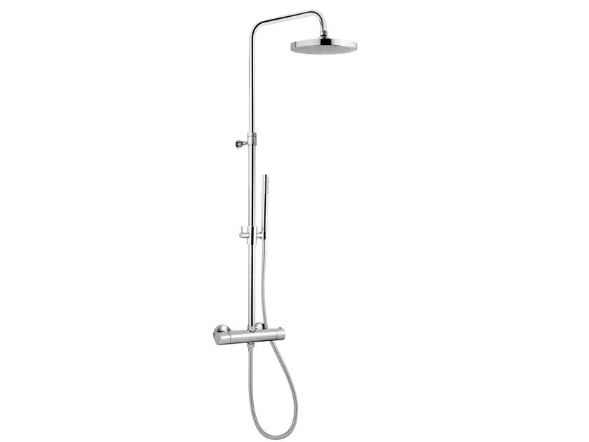 Wall-mounted multifunction thermostatic shower panel CL006 A | Thermostatic shower panel by AQUAelite