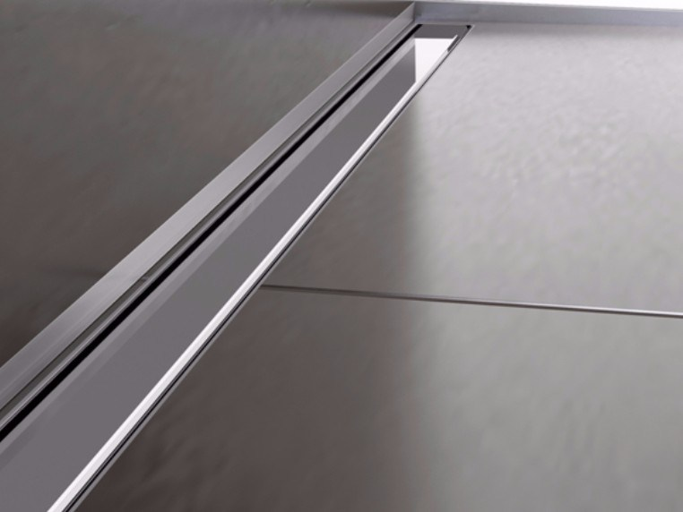 Stainless steel shower channel THIN DRAIN CLASSIC COVER by PROFILPAS