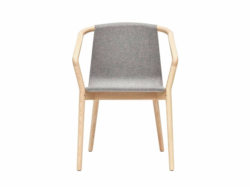 Fabric chair with armrests THOMAS | Fabric chair by SP01