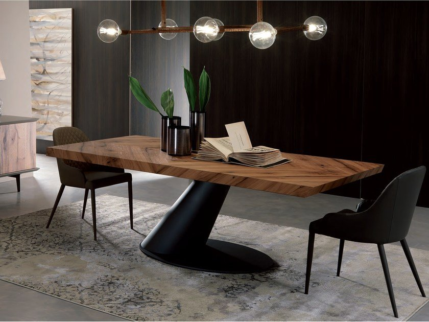 Rectangular wooden dining table THOR FISSO | Wooden table by Ozzio Italia