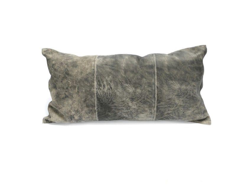 Rectangular suede cushion THREE PANEL by Bazar Bizar