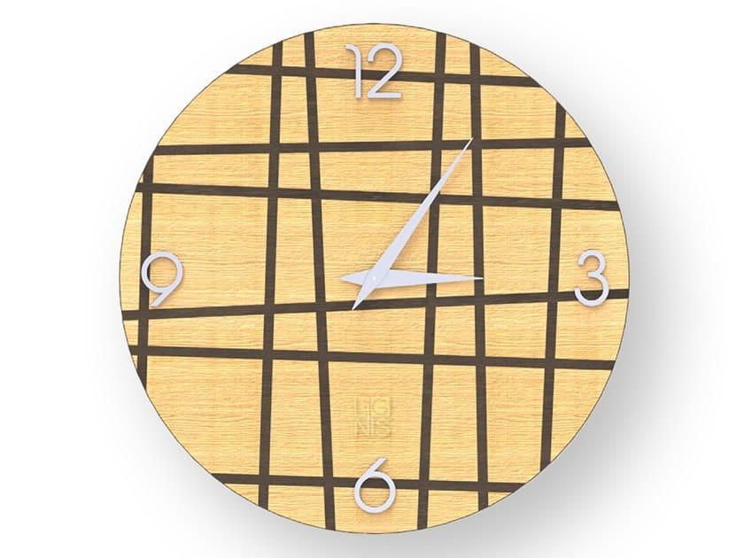 Orologio da parete in legno intarsiato THREE WARM   Orologio by LIGNIS®