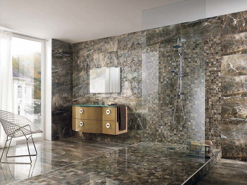 Porcelain stoneware wall/floor tiles with marble effect THRILL ALPS by La Fabbrica