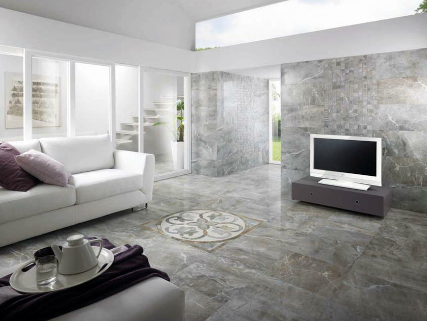 Porcelain stoneware wall/floor tiles with marble effect THRILL FROST by La Fabbrica