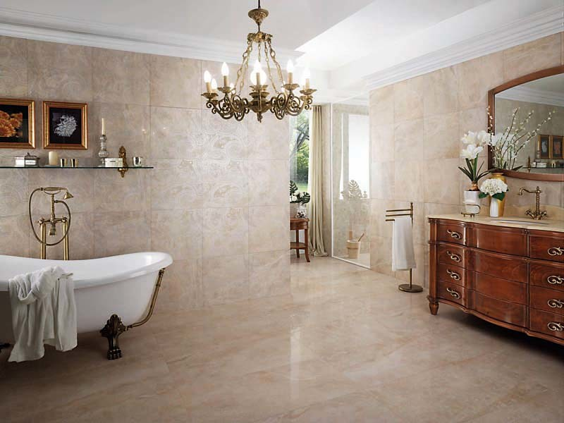 Porcelain stoneware wall/floor tiles with marble effect THRILL JASMINE by La Fabbrica