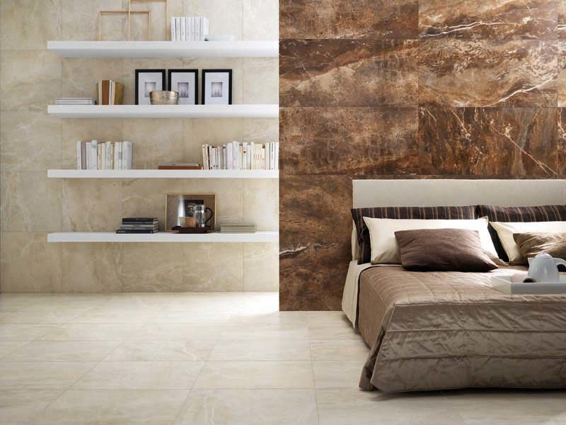 Porcelain stoneware wall/floor tiles with marble effect THRILL ROCK by La Fabbrica