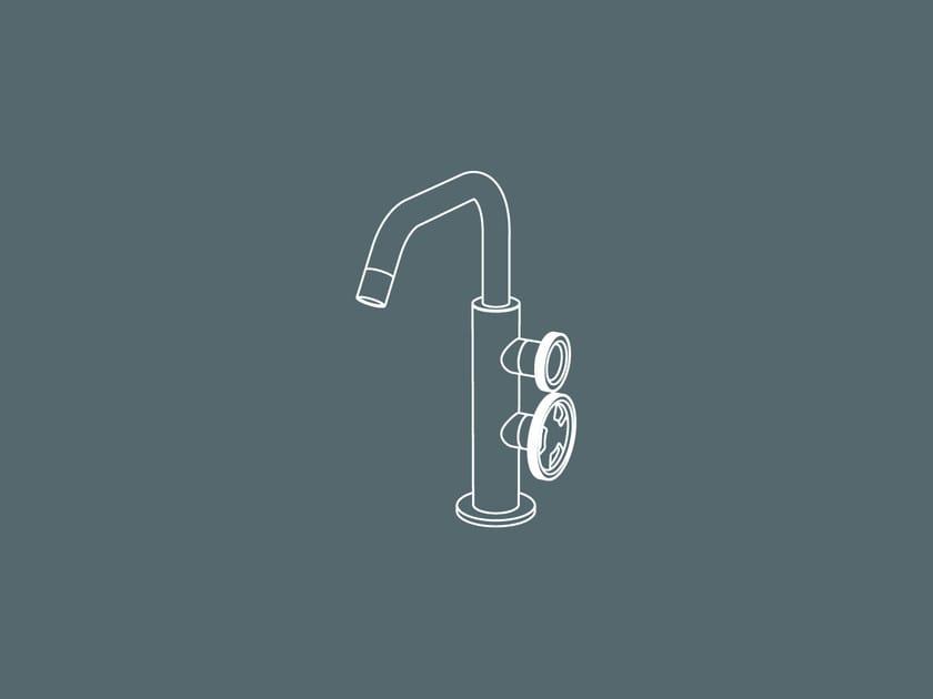 Robinet pour lavabo à poser monotrou en métal de style contemporain TIBÒ - TIB1 by GEDA