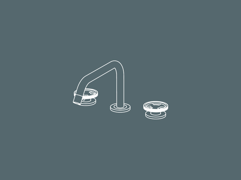 3 hole countertop washbasin tap without waste TIBÒ - TIB52 by GEDA
