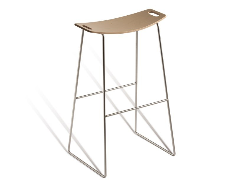 High stackable sled base stool TIC 530M by Capdell