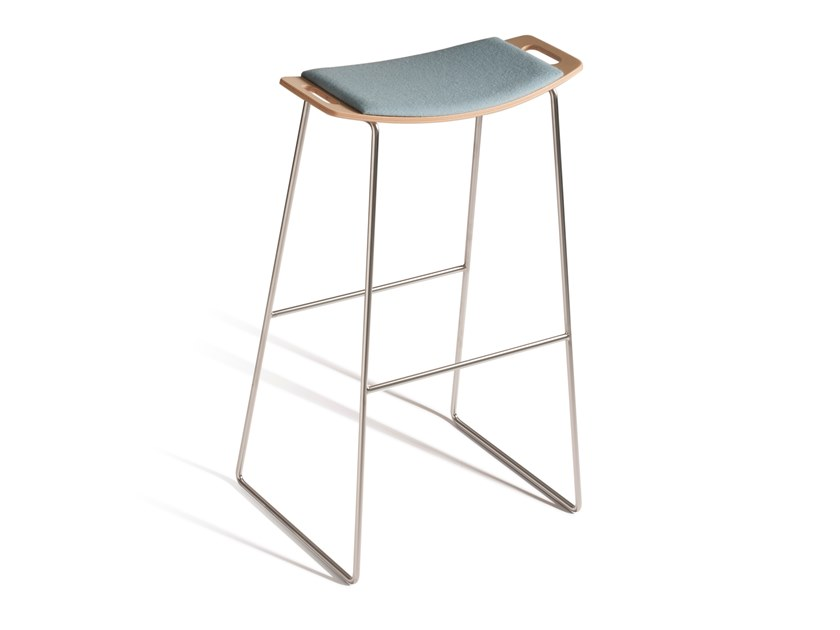 High sled base stool with integrated cushion TIC 530P by Capdell