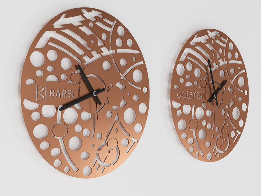 Wall-mounted iron clock TIC TOC by Barel