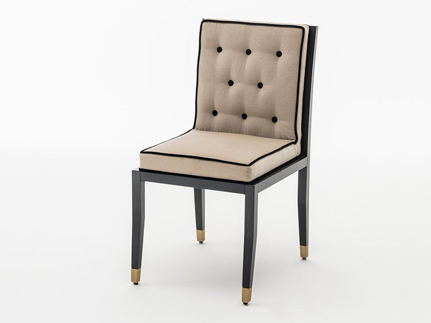 Tufted upholstered leather chair TICINESE | Chair by OAK