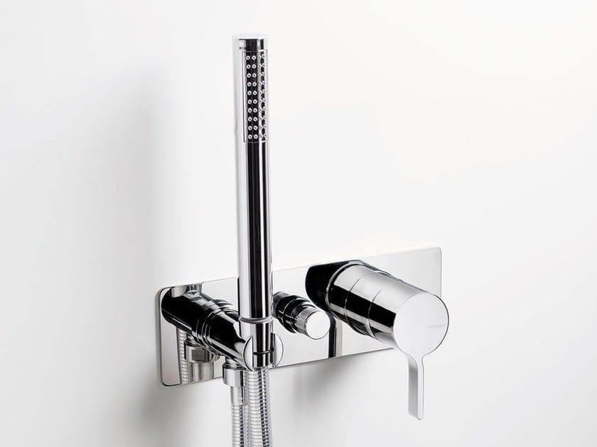 Wall-mounted bathtub mixer with hand shower TIE   Bathtub mixer by RITMONIO
