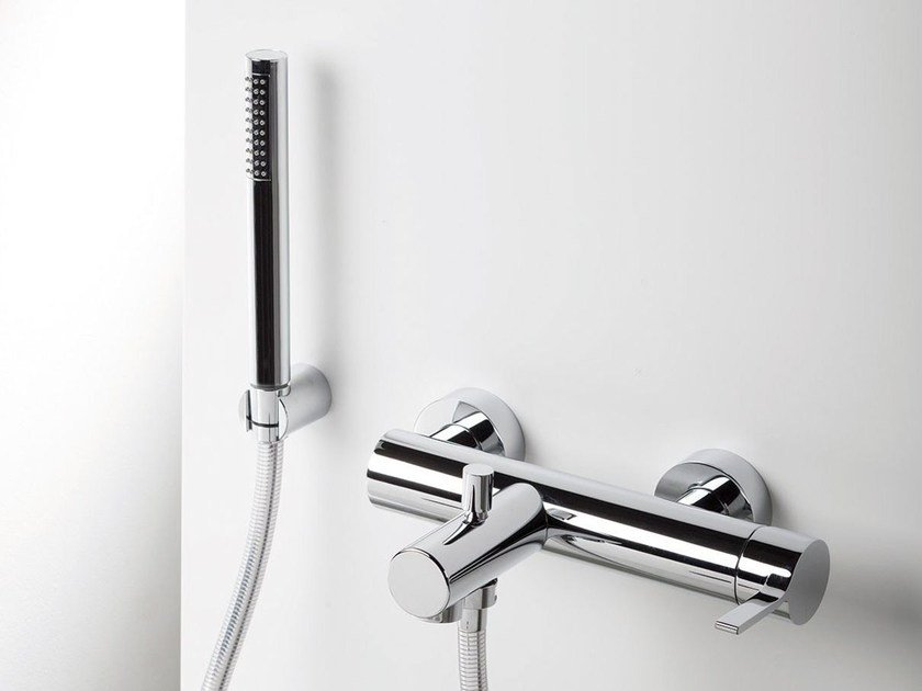 Wall-mounted bathtub mixer with hand shower TIE | Single handle bathtub mixer by RITMONIO