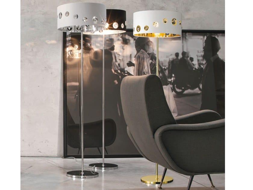 Fabric floor lamp TIFFANY | Floor lamp by Adriani e Rossi edizioni