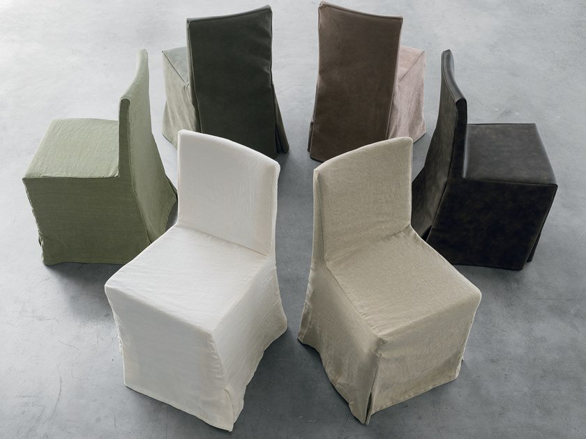 Upholstered fabric chair TIFFANY GONNA by Gruppo Tomasella