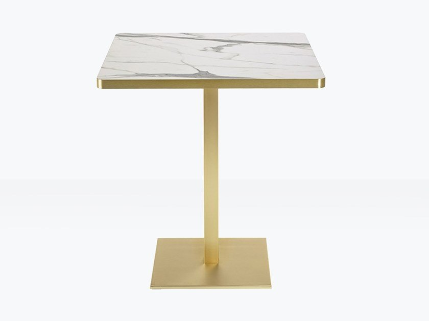 Square contract table TIFFANY Column 50×50 mm by SCAB DESIGN