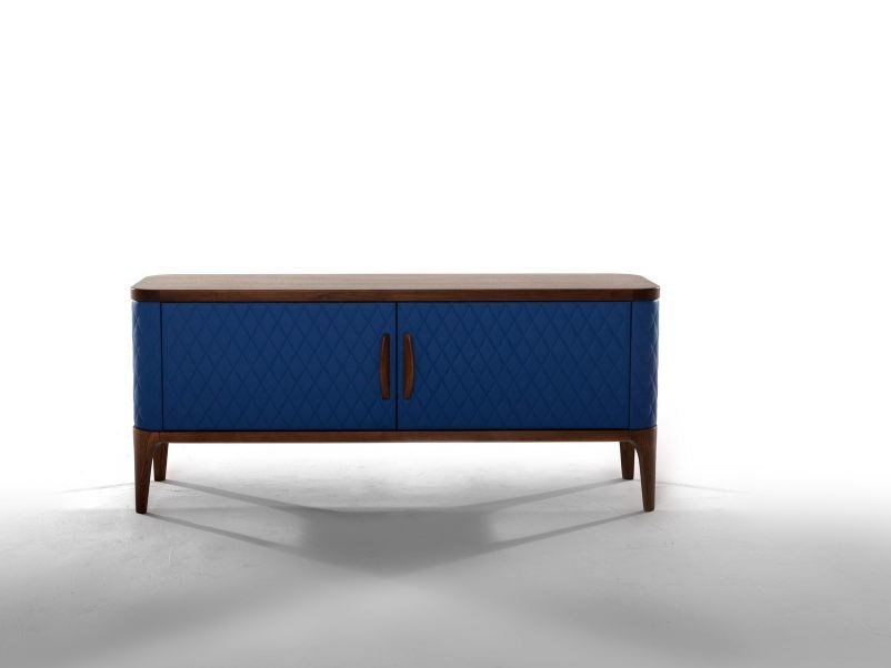 Leather sideboard with doors TIFFANY | Sideboard by Tonin Casa