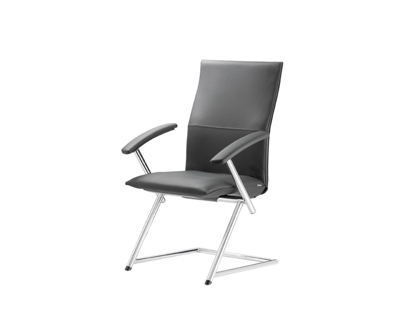 Cantilever Leather Chair With Armrests TIGER UP   Leather Chair By Nowy  Styl Group