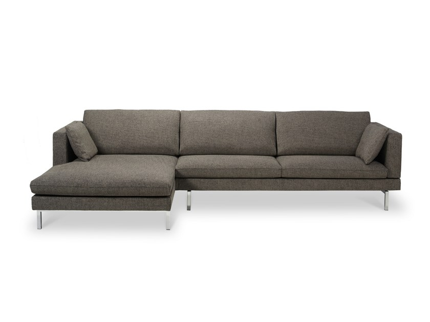 Fabric sofa with chaise longue TIGRA | Sofa with chaise longue by JORI