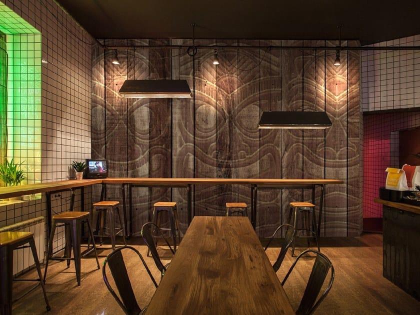 Wood effect wallpaper TIKI MASK by Wall LCA