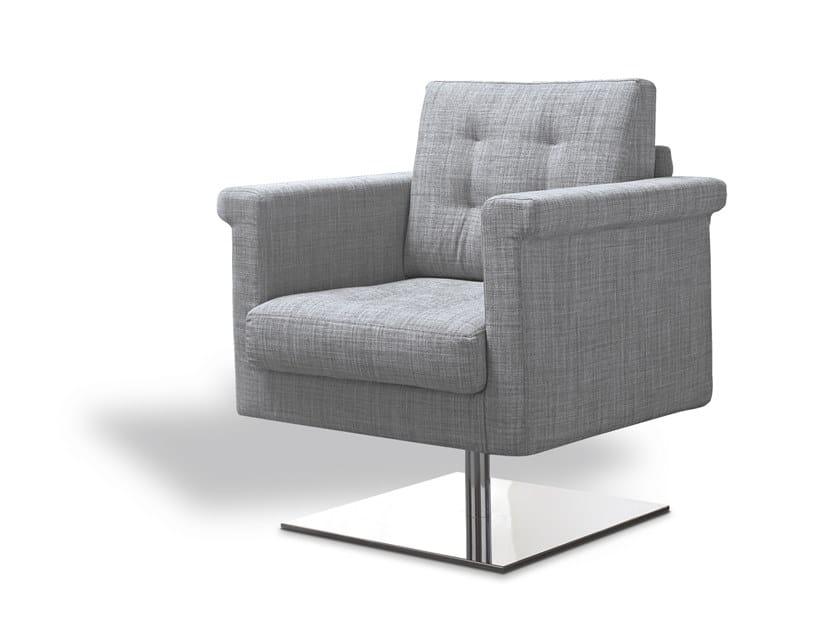 Swivel fabric armchair with armrests TILADY | Swivel armchair by Felis