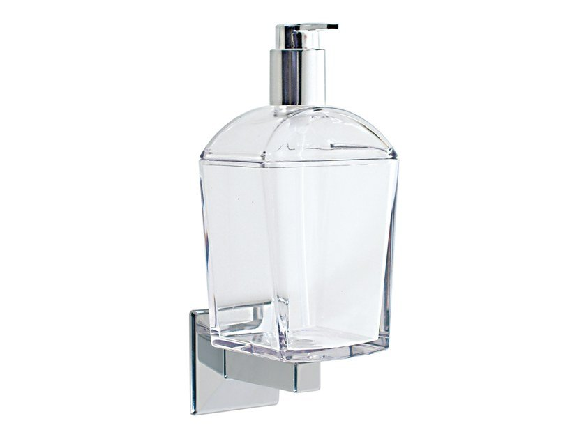 Wall-mounted polycarbonate liquid soap dispenser TILDA | Wall-mounted liquid soap dispenser by KOH-I-NOOR