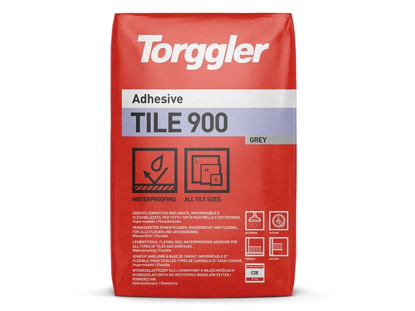 Cement adhesive for flooring TILE 900 by Torggler Chimica
