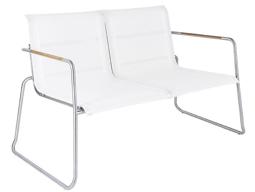 2 seater Batyline® garden sofa TILOS | Garden sofa by MOBIKA GARDEN