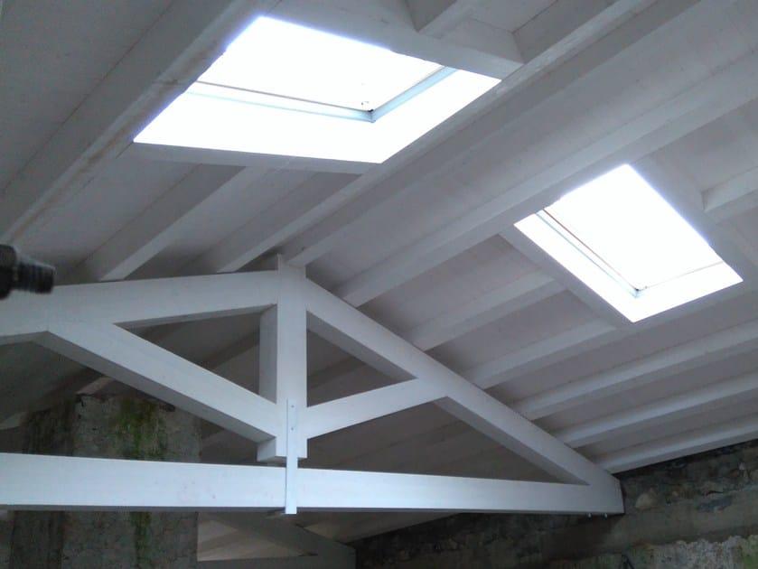 Struttura in legno per copertura Rifacimento tetto in legno by Progettoelleci