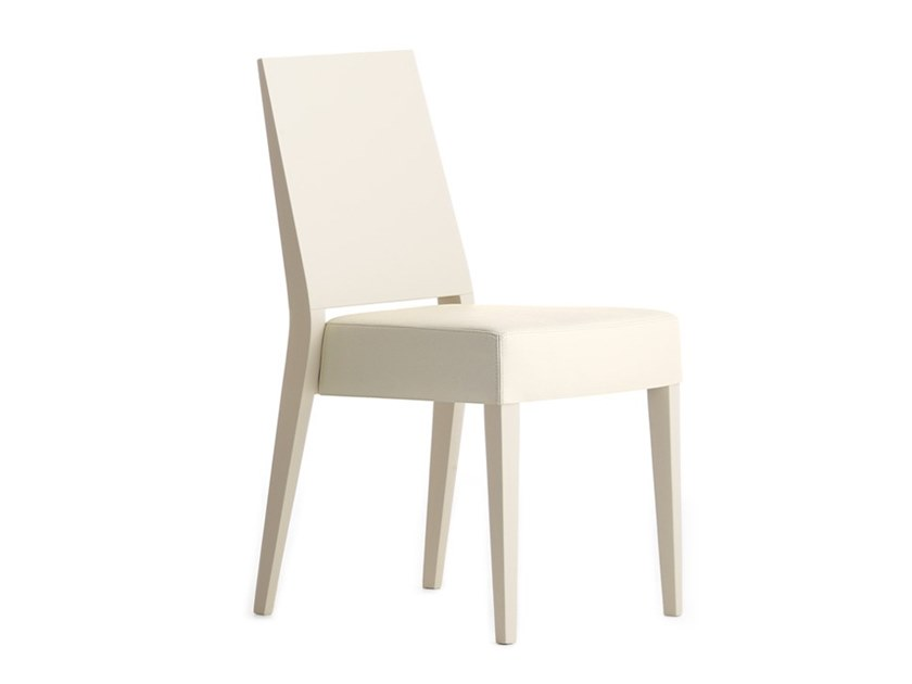 Upholstered stackable chair TIMBERLY 01711 by Montbel
