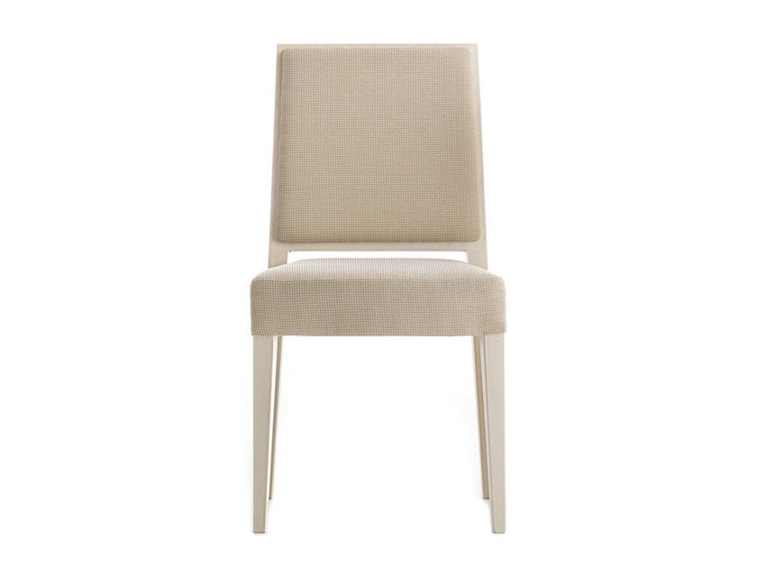 Upholstered stackable chair TIMBERLY 01714 by Montbel