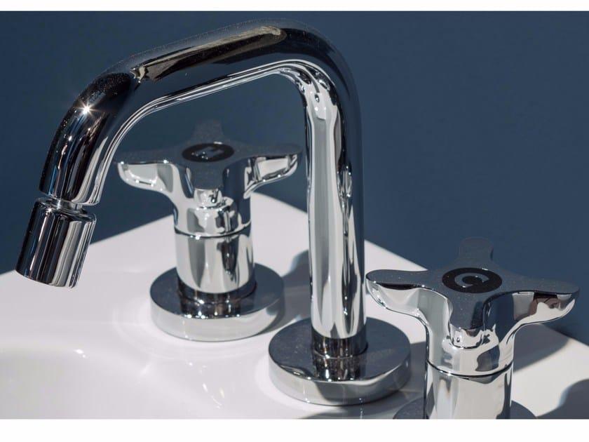 Rubinetto per lavabo a 3 fori da piano TIMBRO | Rubinetto per lavabo by Antonio Lupi Design
