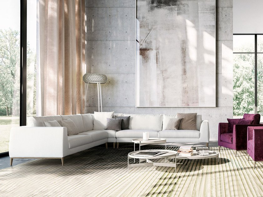 Corner Fabric Sofa Time By Pianca