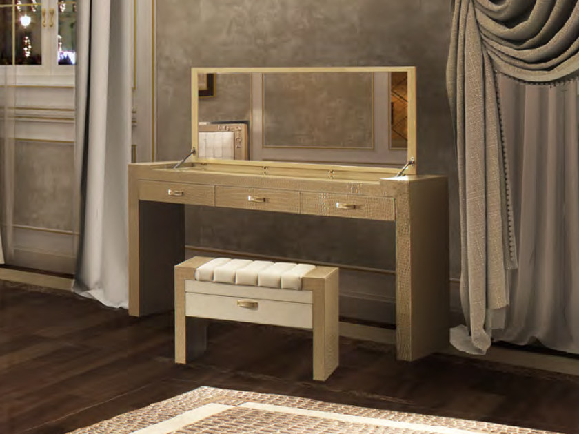 Leather dressing table TIME SQUARE | Dressing table by Formitalia