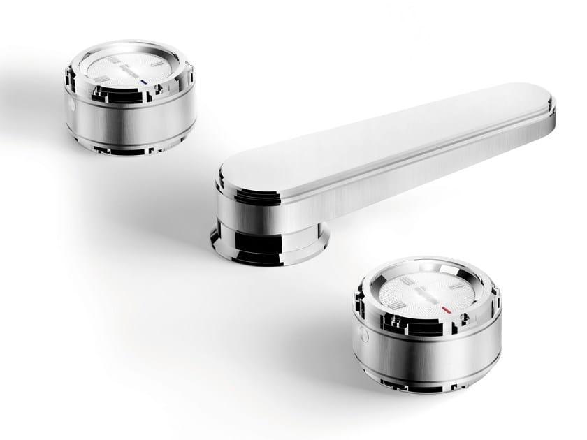 3 hole chromed brass washbasin tap TIMEASTER 3223T by RUBINETTERIE STELLA