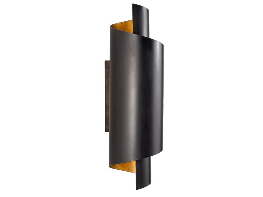 Brass wall light TIMELESS URBAN 01 by Il Bronzetto