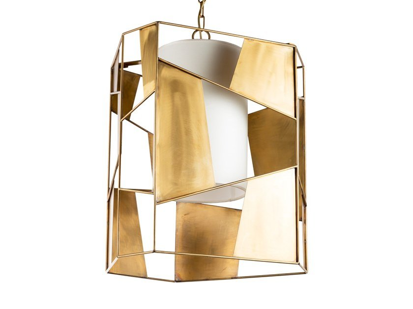 Brass pendant lamp TIMELESS URBAN 20 by Il Bronzetto