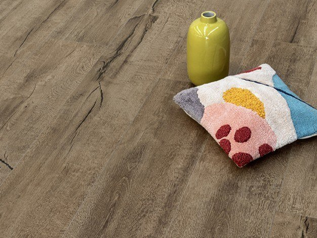 Porcelain stoneware wall/floor tiles with wood effect TIMEWOOD BROWN by CERAMICA SANT'AGOSTINO