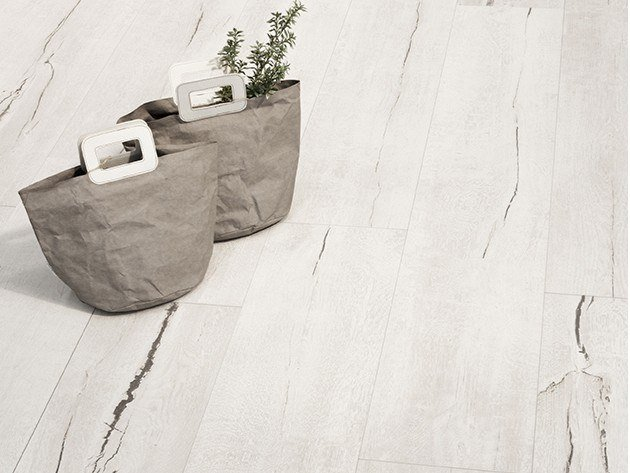 Porcelain stoneware wall/floor tiles with wood effect TIMEWOOD WHITE by CERAMICA SANT'AGOSTINO