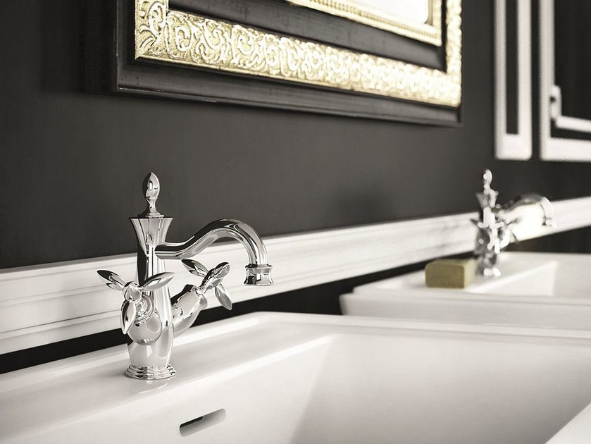 Chrome-plated countertop 1 hole washbasin tap TIMOR | Chrome-plated washbasin tap by Gattoni Rubinetteria